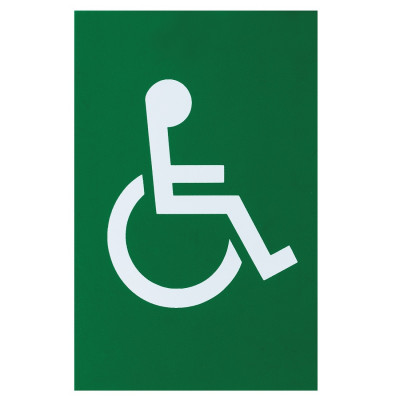 Arrone Nylon Disabled Sign 150mm x 100mm - Green RAL6016