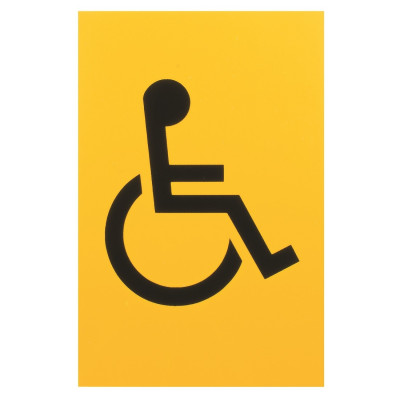 Arrone Nylon Disabled Sign 150mm x 100mm - Yellow RAL1004