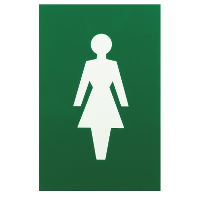 Arrone Nylon Female Sign 150mm x 100mm - Green RAL6016
