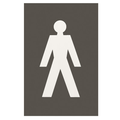 Arrone Nylon Male Sign 150mm x 100mm - Anthracite Grey RAL7016