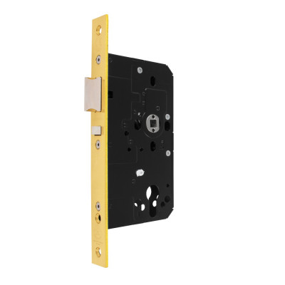 Arrone AR914 DIN Style Euro Nightlatch with Square Forend - 88mm Case - 60mm Backset - PB