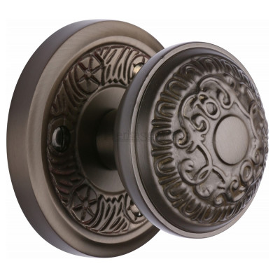 M.Marcus Aydon Mortice Knob Handles on Round Rose - Matt Bronze