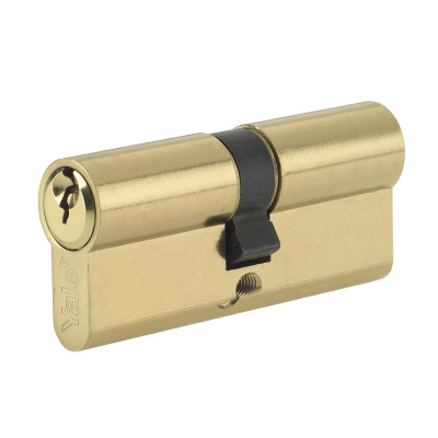 Yale Security 6 Pin Euro Double Cylinder - 40/60 (100mm) - Brass