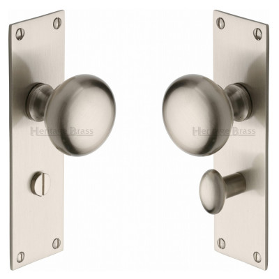 M.Marcus Balmoral Bathroom Handles - Satin Nickel