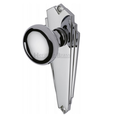 M.Marcus Broadway Latch Handles - Polished Chrome