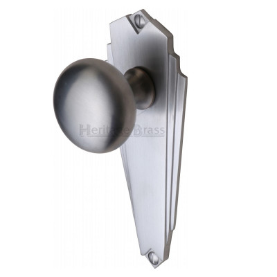 M.Marcus Broadway Latch Handles - Satin Chrome