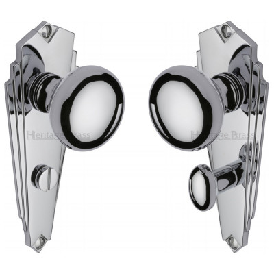 M.Marcus Broadway Bathroom Handles - Polished Chrome