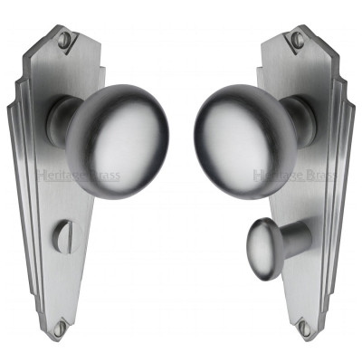 M.Marcus Broadway Bathroom Handles - Satin Chome