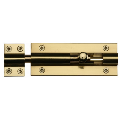 "M.Marcus Straight Door Bolt - 102mm (4"") - Polished Brass"