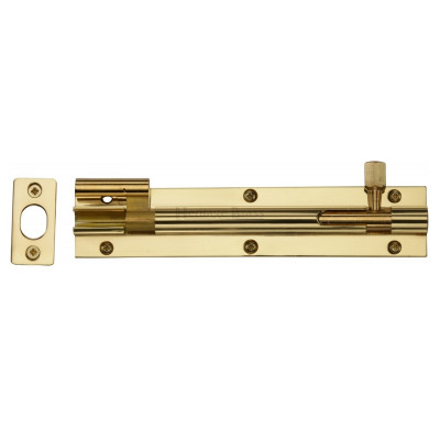 "M.Marcus Necked Door Bolt - 152mm (6"") - Polished Brass"