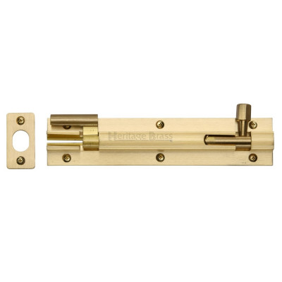 "M.Marcus Necked Door Bolt - 152mm (6"") - Satin Brass"