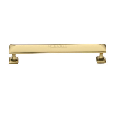 M.Marcus Pyramid Design Cabinet Pull 152mm - Polished Brass