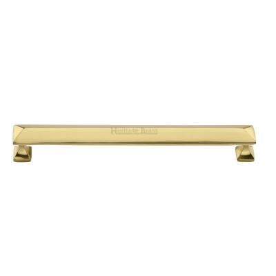 M.Marcus Pyramid Design Cabinet Pull 203mm - Polished Brass