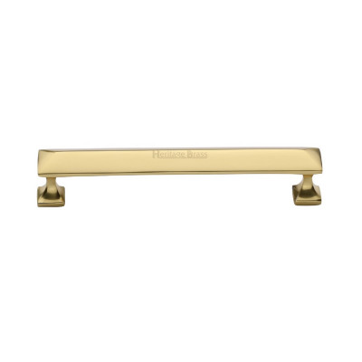 M.Marcus Pyramid Design Cabinet Pull 96mm - Polished Brass