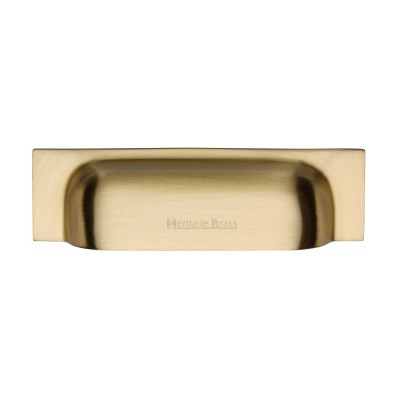M.Marcus Cup Handle Drawer Pull 145mm - Satin Brass