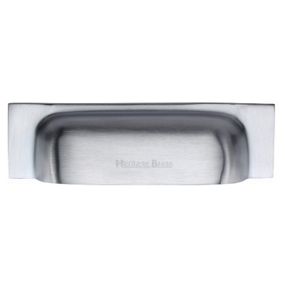 M.Marcus Cup Handle Drawer Pull 221mm - Satin Chrome