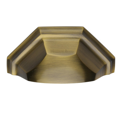 M.Marcus Drawer Pull 89mm - Antique Brass
