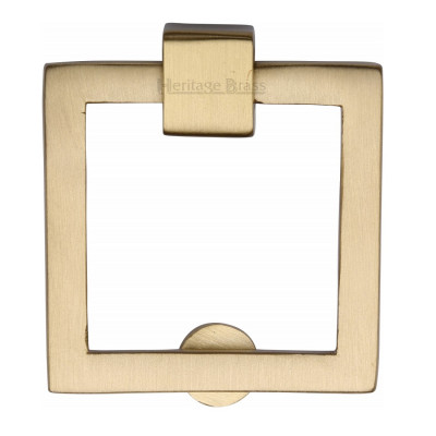 M.Marcus Square Drop Cabinet Pull - Satin Brass