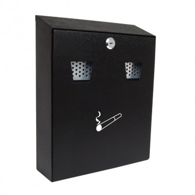 Sterling CIG2BK Wall Mounted Cigarette Bin - Black