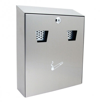 Sterling CIG2ST Wall Mounted Cigarette Bin - Stainless Steel