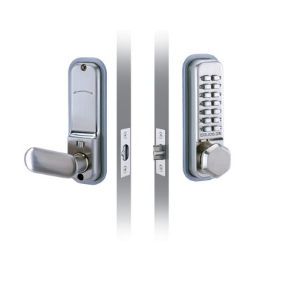 Codelock CL255 Digital Lock with Optional Hold Back - Satin Stainless Steel