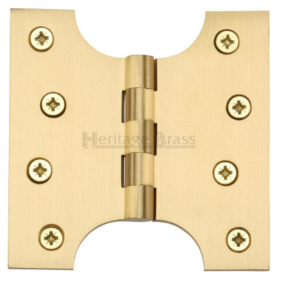 "M.Marcus 102x102mm (4"" x 4"") Parliament Hinges (pair) - Satin Brass"