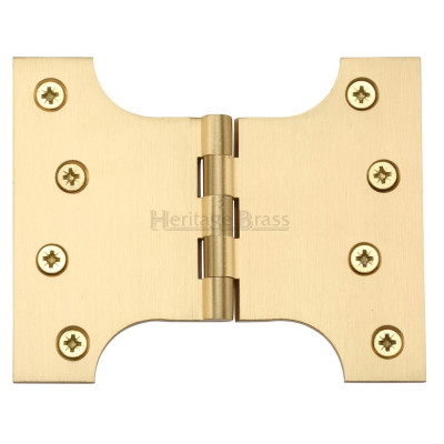 "M.Marcus 102x127mm (4"" x 5"") Parliament Hinges (pair) - Satin Brass"