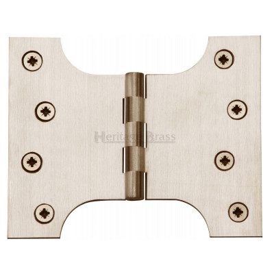 "M.Marcus 102x127mm (4"" x 5"") Parliament Hinges (pair) - Satin Nickel"
