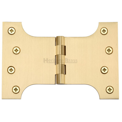 "M.Marcus 102x152mm (4"" x 6"") Parliament Hinges (pair) - Satin Brass"
