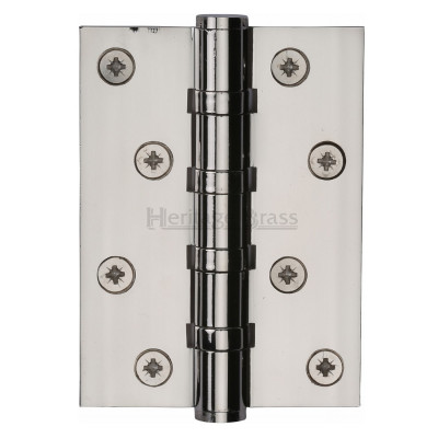 "M.Marcus 102x76mm (4"" x 3"") Ball Bearing Butt Hinge (pair) - Polished Nickel"