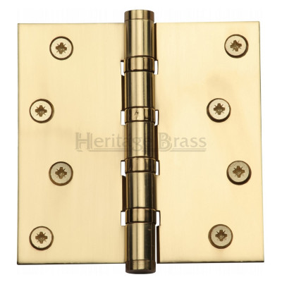 "M.Marcus 102x102mm (4"" x 4"") Ball Bearing Butt Hinge (pair) - Polished Brass"