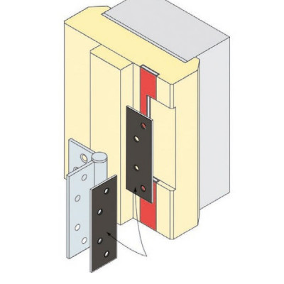 Arrone Intumescent Fire Pack for 100x75mm & 102x76mm Hinge (Suits 1.5 pair)