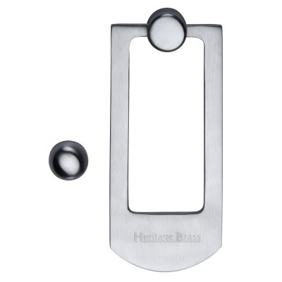 M.Marcus Modern Door Knocker - Satin Chrome