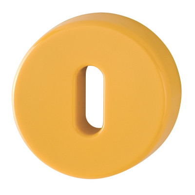 Hoppe Nylon Lever Key Escutcheon (pair) - Golden Yellow RAL1004
