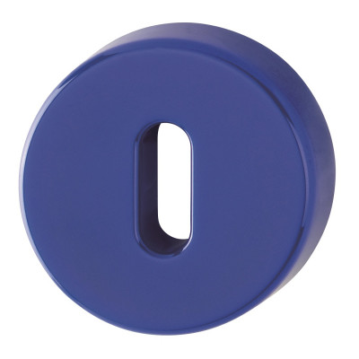 Hoppe Nylon Lever Key Escutcheon (pair) - Cobalt Blue RAL5002