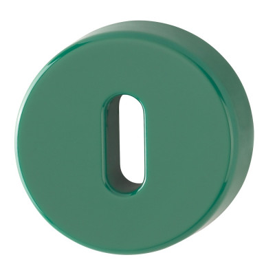 Hoppe Nylon Lever Key Escutcheon (pair) - Green RAL6016