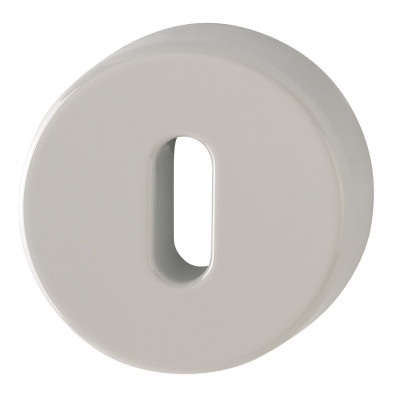 Hoppe Nylon Lever Key Escutcheon (pair) - Dove Grey RAL7506
