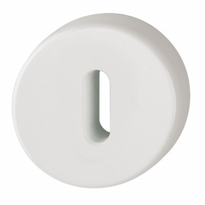 Hoppe Nylon Lever Key Escutcheon (pair) - Diamond White RAL9016