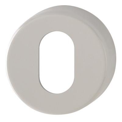 Hoppe Nylon Oval Profile Escutcheon (pair) - Dove Grey RAL7506