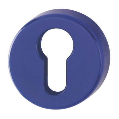 Hoppe Nylon Euro Profile Escutcheon (pair) - Cobalt Blue RAL5002