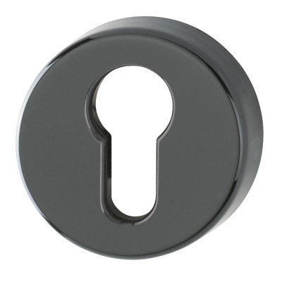 Hoppe Nylon Euro Profile Escutcheon (pair) - Ebony Black RAL9017