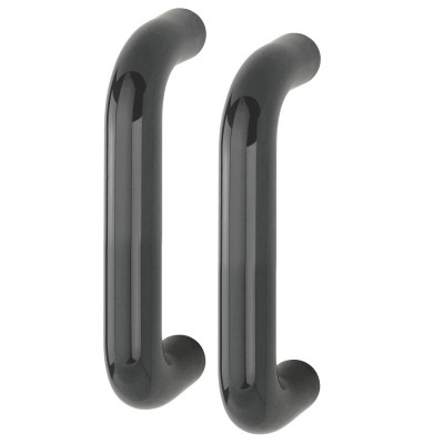 Hoppe 34mmØ Nylon 'D' Back To Back Fixing Pull Handle 220mm - Anthracite Grey RAL7016