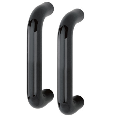 Hoppe 34mmØ Nylon 'D' Back To Back Fixing Pull Handle 220mm - Black RAL9017