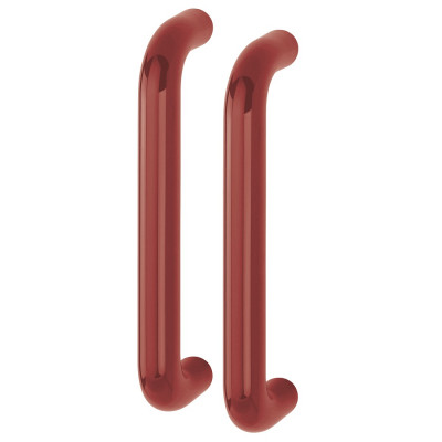 Hoppe 34mmØ Nylon 'D' Back To Back Fixing Pull Handle 300mm - Claret (Burgundy) RAL3005