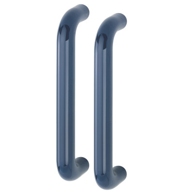 Hoppe 34mmØ Nylon 'D' Back To Back Fixing Pull Handle 300mm - Midnight (Dark) Blue RAL5003