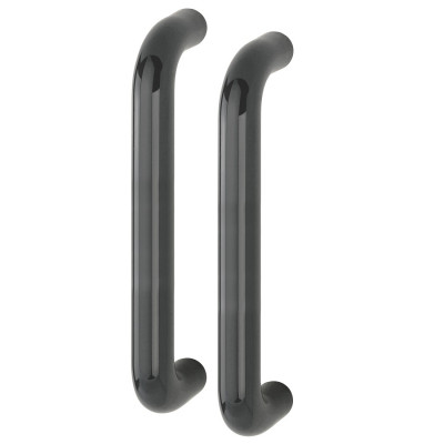 Hoppe 34mmØ Nylon 'D' Back To Back Fixing Pull Handle 300mm - Anthracite Grey RAL7016
