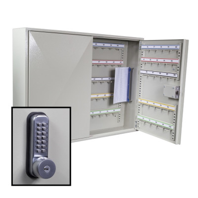 KeySecure Padlock Cabinet With Digital Lock With Key Override - 100 Hook