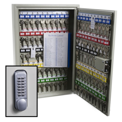 KeySecure Security Key Cabinet With Digital Lock - 100 Hook