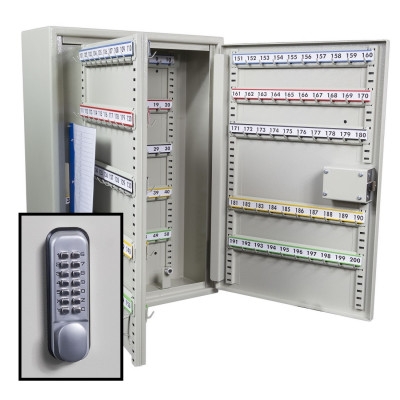 KeySecure Security Key Cabinet With Digital Lock - 200 Hook