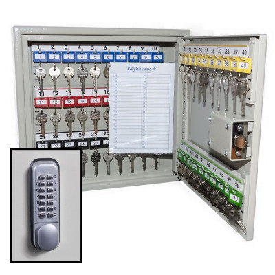KeySecure Security Key Cabinet With Digital Lock - 50 Hook